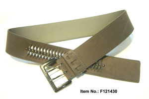 2017 Fishbone Style Leather Belt pictures & photos