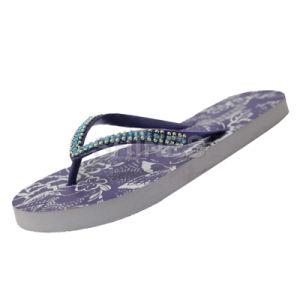 Purple Diamond Flip Flop for Women pictures & photos