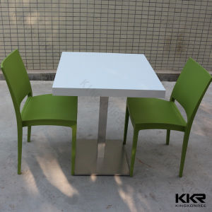 Kkr 2 Seater Solid Surface Square Dining Table pictures & photos