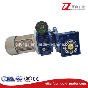 Electric Motor with Aluminum Alloy Nmrv Gearbox, Worm Geared Motor pictures & photos