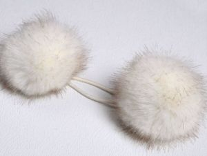 Fashion Faux Fur Pompoms/Artificial Fur Balls Key Chain Size 9cm