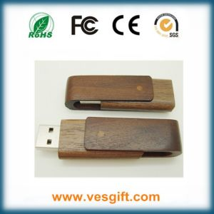 Hot Corporate Gift USB Drive Wooden Swivel USB Memory Stick pictures & photos