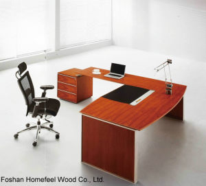 Elegant and Fashionable Wooden Office Manager Table (HF-MH0925) pictures & photos