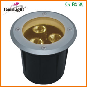 Hot Selling Mini 3*1W LED Underground Lamp Outdoor Lighting pictures & photos