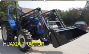 Huaxia 50HP 4WD Agro Tractor with Front Loader pictures & photos