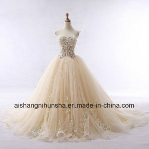 Lace Bridal Wedding Dress Beading Tulle Sweetheart Wedding Gown pictures & photos