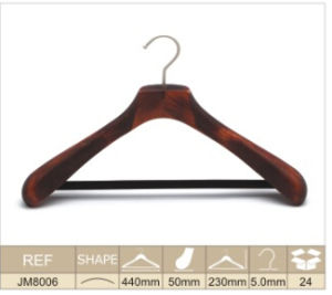 Wooden Men′s Coat Hanger Jm8006