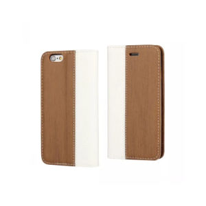 Wooden Wallet Style PU Leather Case for iPhone 7 with Standing pictures & photos
