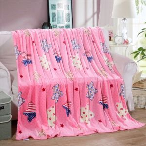 100% Polyester Hot Sale Rotary Screen Printing Soft Plush Throw Blanket pictures & photos