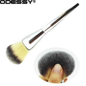 New Synthetic Hair Foundation Makeup Brush with Siliver Metal Handle