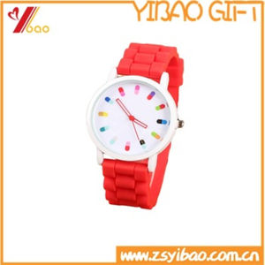 Hot Sale Fashion Sport Lady Silicone Watch (YB-AB-036) pictures & photos