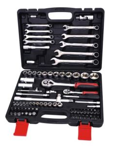 "1/4""&1/8""Dr. 82PCS CRV Hand Tool Socket Set pictures & photos"