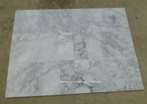 White Color Marbles Arabescato with Big White Flower for Mosaics pictures & photos