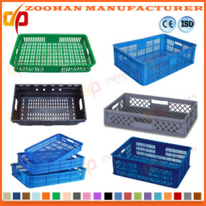 Supermarket Fruits and Vegetables Plastic Container Transport Turnover Basket (Zhtb12) pictures & photos