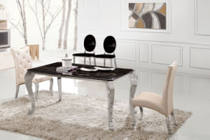 855# Modern European Reactangle Stainless Steel Dining Table pictures & photos
