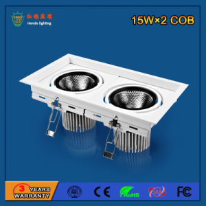 Customized 2700-6500k 90lm/W 15W*2 Aluminum LED Grille Light pictures & photos