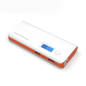 12000mAh Powerbank Dual USB LCD LED 18650 Battery Portable Charger pictures & photos