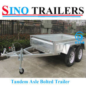 Hot Dipped Galvanized Tandem Box Trailer for Sale pictures & photos