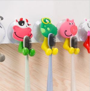 Animal Design Cartoon Tooth Brush Holder with Sucker for Kids pictures & photos
