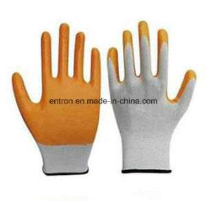 13G Polyester Nitrile Palm Coating Glove pictures & photos
