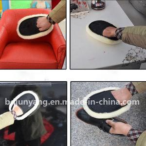 Super Soft 100% Genuine Sheepskin Pile Wool Wash Mitt pictures & photos