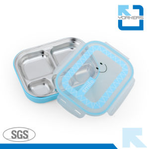 5 Compartments New Style Stainless Food Tray Lunch Tray for Child pictures & photos