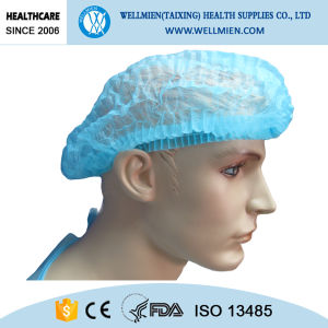 High Quality Colorful Bouffant Cap with Elastic pictures & photos