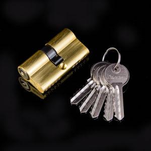 60mm  Aluminum Shell Zinc Core Door Lock Cylinder