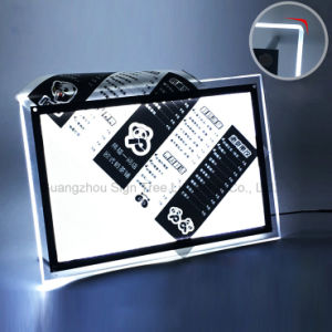 A4 Crystal Light Box with LED Lights pictures & photos