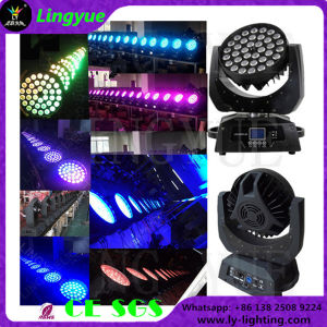 Stage DJ Disco Lighting Beam Zoom 36X18W Rgbwauv 6in1 LED Moving Head Light pictures & photos