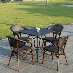 Patio Aluminum Glass Table Textilene Chair Support Factory Customized (J813) pictures & photos