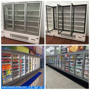 Supermarket Refrigerator, Anti-Fog Glass Door Walk-in Cooler pictures & photos