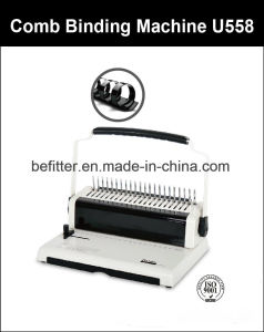 U558 U Handle A4 Size Comb Binding Machine pictures & photos