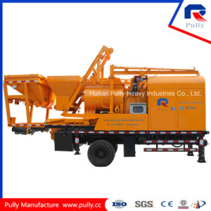 Pully Manufacture Mobile Concrete Mixing Pump Truck (JBC40-L1) pictures & photos