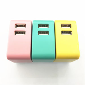 Hot Selling Folding Plug Dual USB Wireless Mobile Charger/Plug with 5V 2A for Power Supply pictures & photos