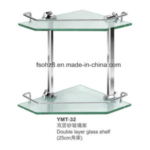 Double Layer Stainless Steel Bathroom Glass Corner Shelf (YMT-32) pictures & photos