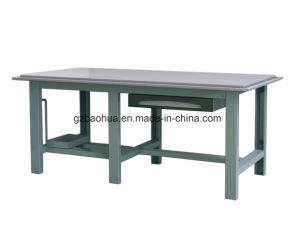 Heavy-Duty Stainless Steelworking Bench with Oil Collecting Gutter pictures & photos