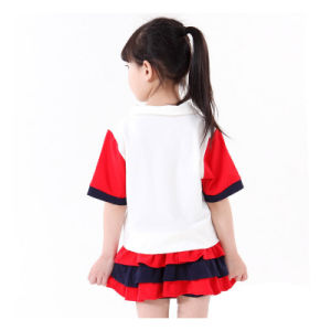 Primary Summer School Uniforms 100% Cotton Kids School Uniform Design pictures & photos