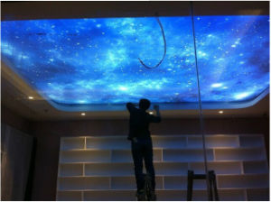 High Digitail Printed Star Skylight PVC Stretch Ceiling Film pictures & photos