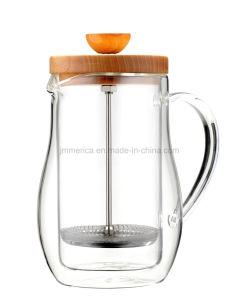 Glass French Press with Double Walls pictures & photos