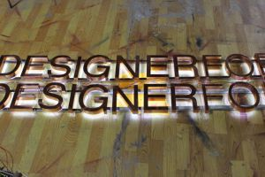 Halo Illuminated Copper Channel Letter Reverse Light Sign pictures & photos