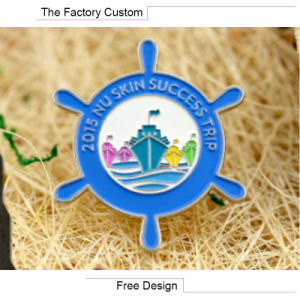 High Quality The Helmsman of The Lacquer That Bake Metal Badges pictures & photos