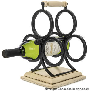 Factory Wholesales Metal Wine Display Rack for 3 Bottle Holder pictures & photos