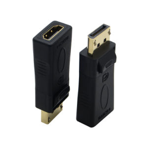 Black Gold Plated Displayport to HDMI Adapter 1080P pictures & photos