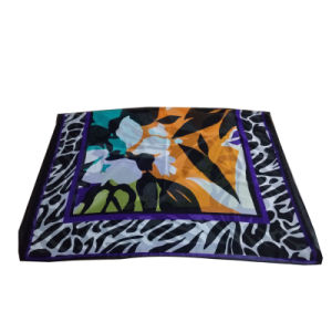 Polyester Chiffon Printed Scarf for Women Purple pictures & photos