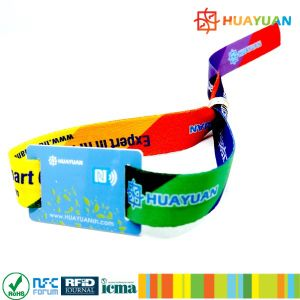 Event Management Concert 13.56MHz Passive RFID Woven Wristband pictures & photos
