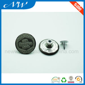 20mm Electroplated Metal Brass Shank Button for Jeans pictures & photos