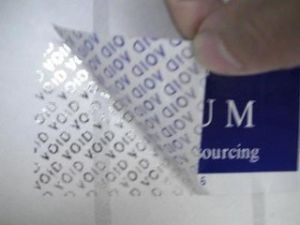 Factory Producing All Kinds of Security Label Sticker pictures & photos