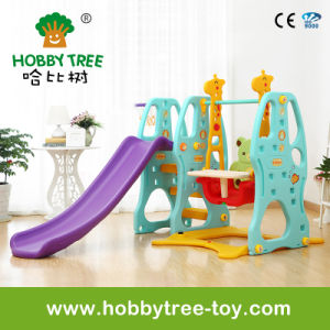 2017 Popular Style Indoor Baby Slide and Swing Plastic Toys for Family (HBS17001B)