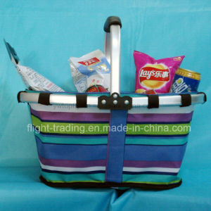 Folded Shopping Basket with Single Handle pictures & photos
